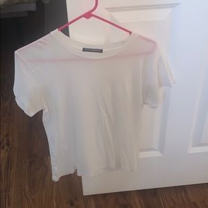 plain white brandy melville shirt
